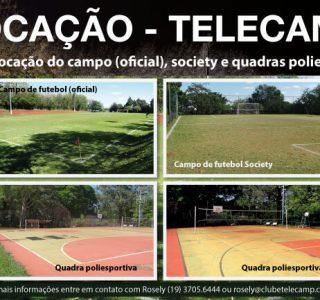 Locação de campo de futebol e Quadras