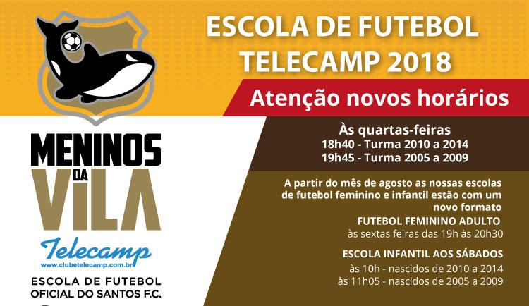 c828344f37 Escola de Futebol – Novos Horários